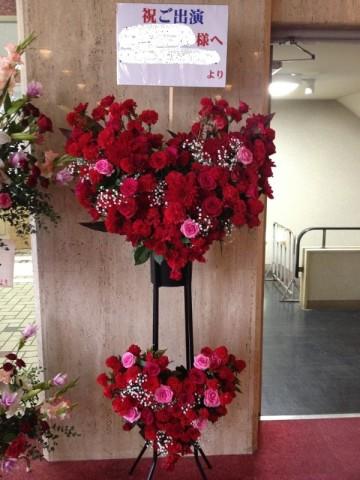 ハート形のスタンド花♪