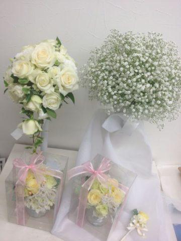 挙式後ブーケ・プロポーズの花束を押し花額にして、記念に残しませんか♪