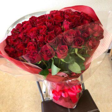 プロポーズのバラの花束・押し花加工